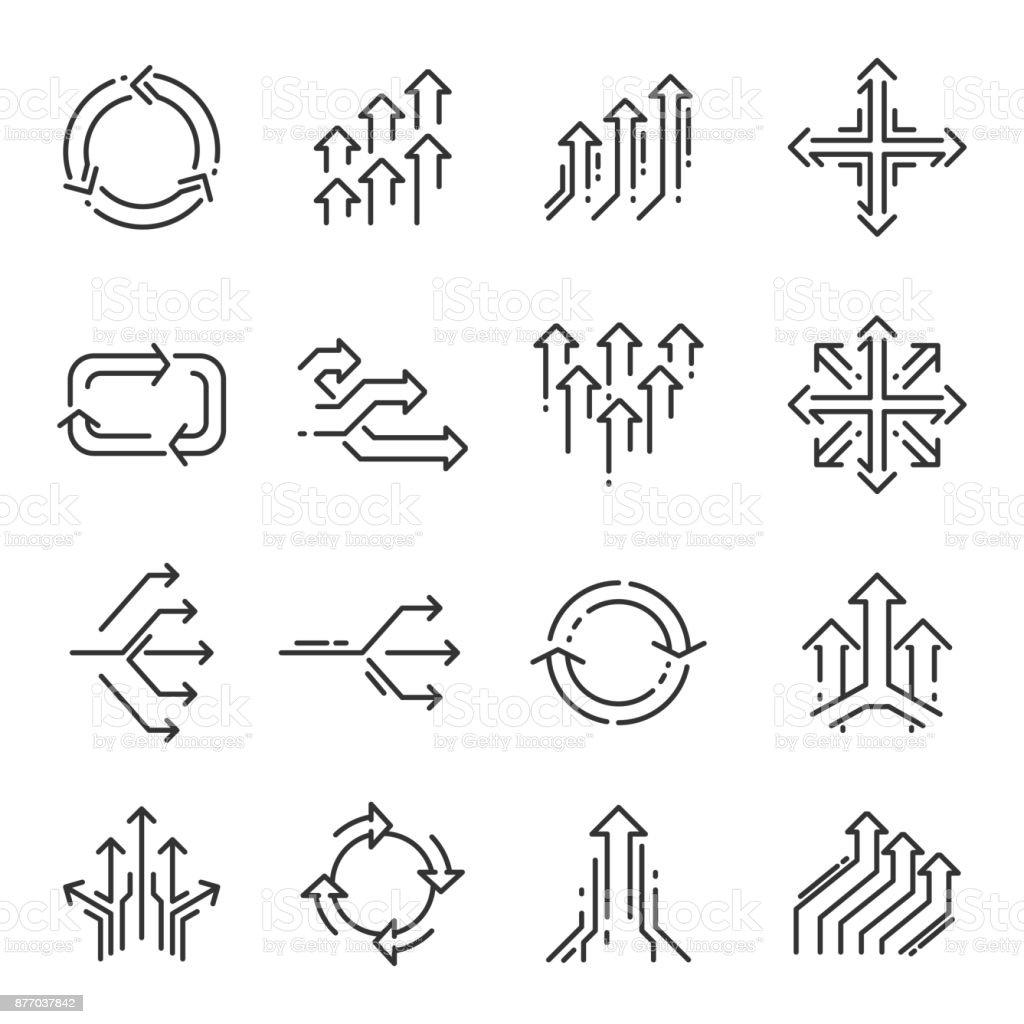 Jeu d'icônes de transition ligne jeu dicônes de transition ligne vecteurs libres de droits et plus d'images vectorielles de abstrait libre de droits