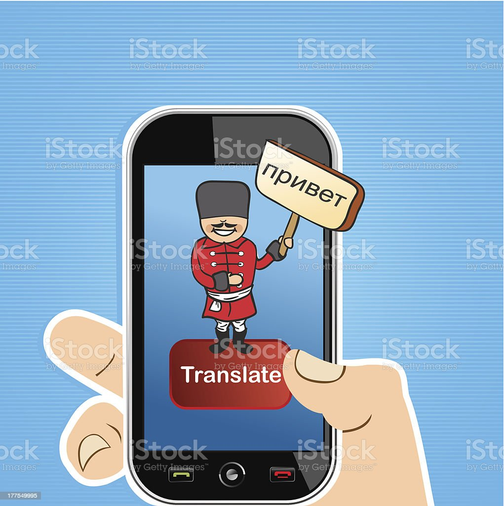 Translate concept royalty-free stock vector art