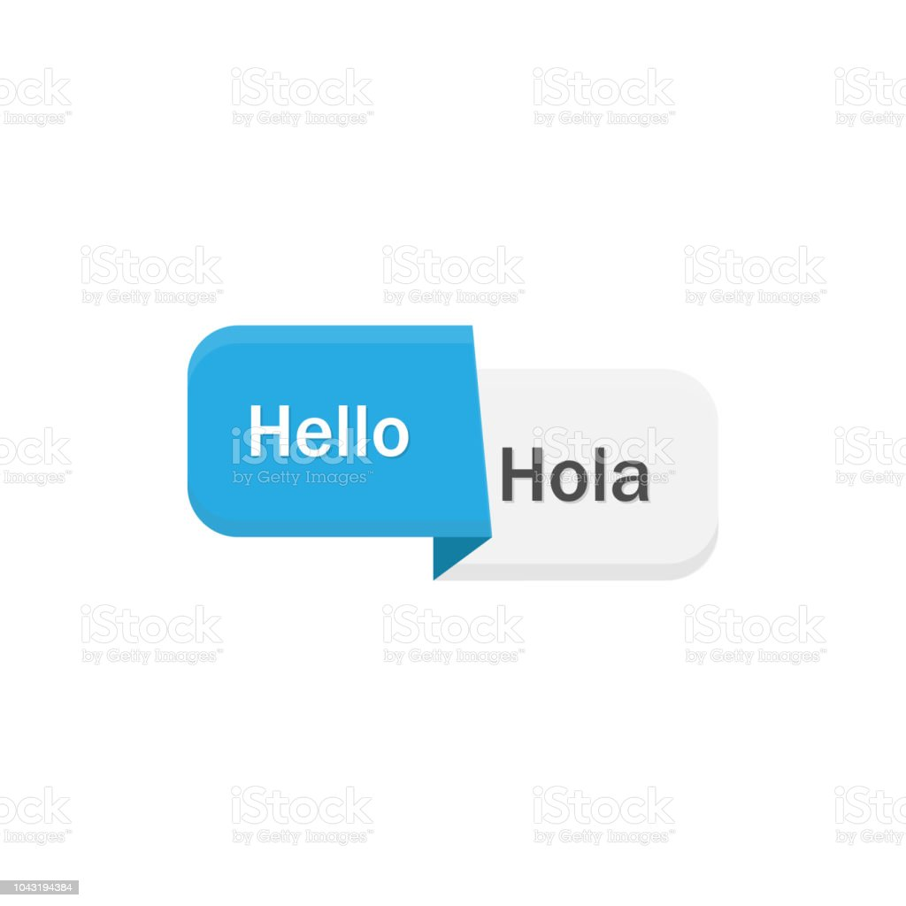 Translate logo. With English on Spanish . Vector illustration flat design vector art illustration