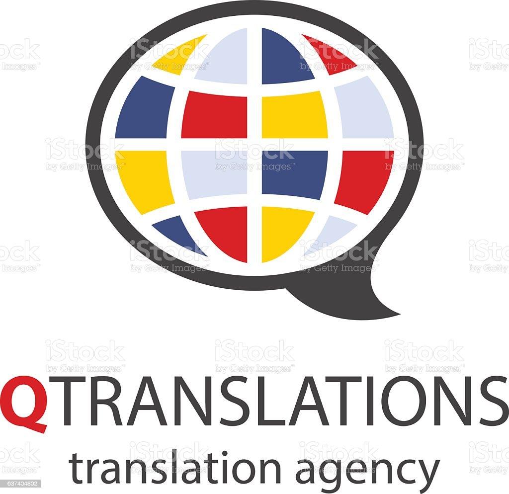Translation agency logo – Vektorgrafik