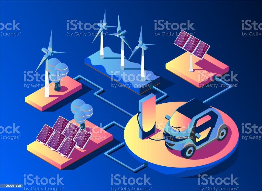 Übertragung Von Solar Und Windenergie Für Zu Hause Solarzellen Und ...