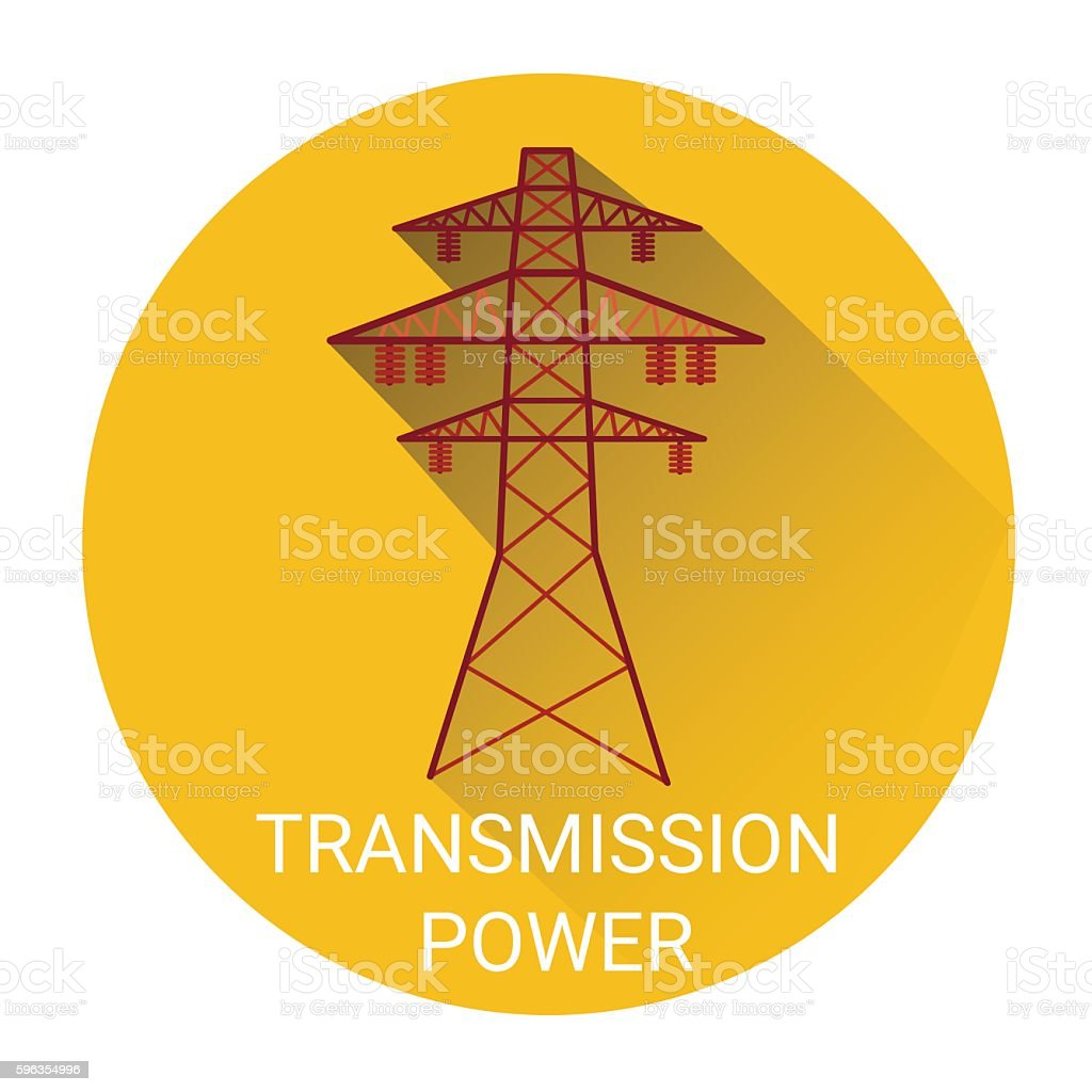 Transmission Power Tower Icon royalty-free transmission power tower icon stock vector art & more images of business