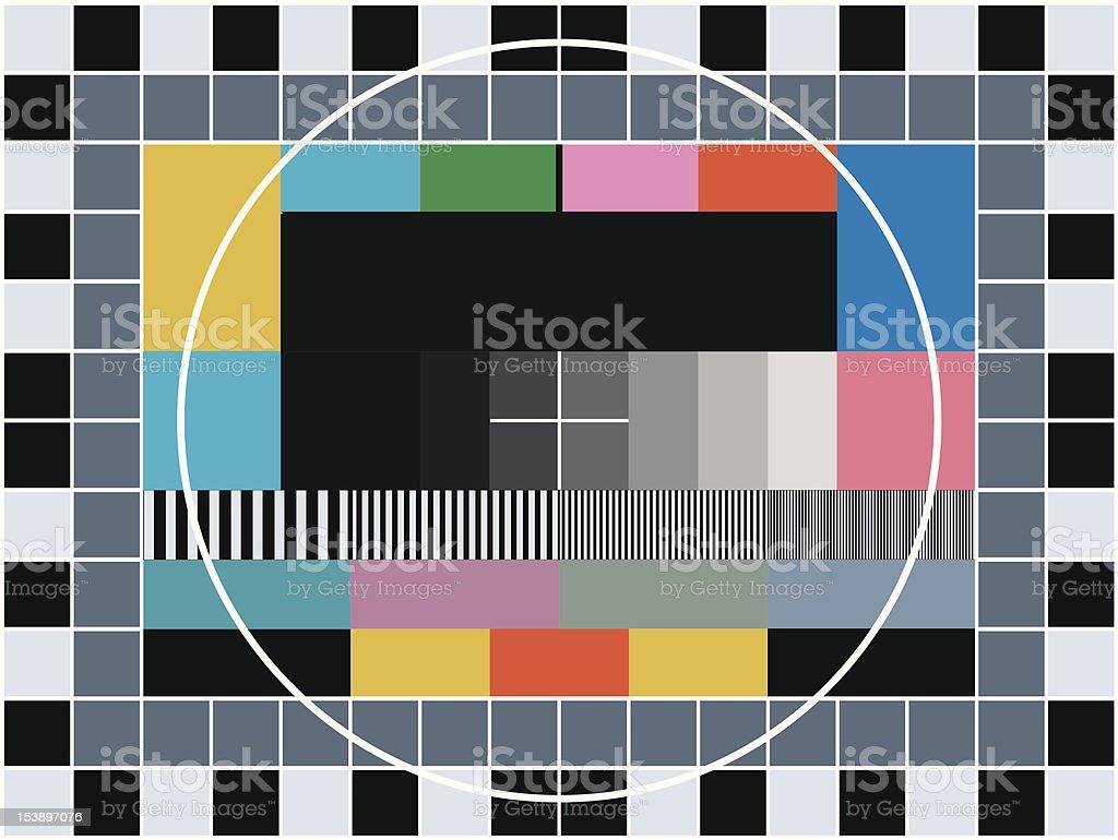 TV transmission test card vector art illustration