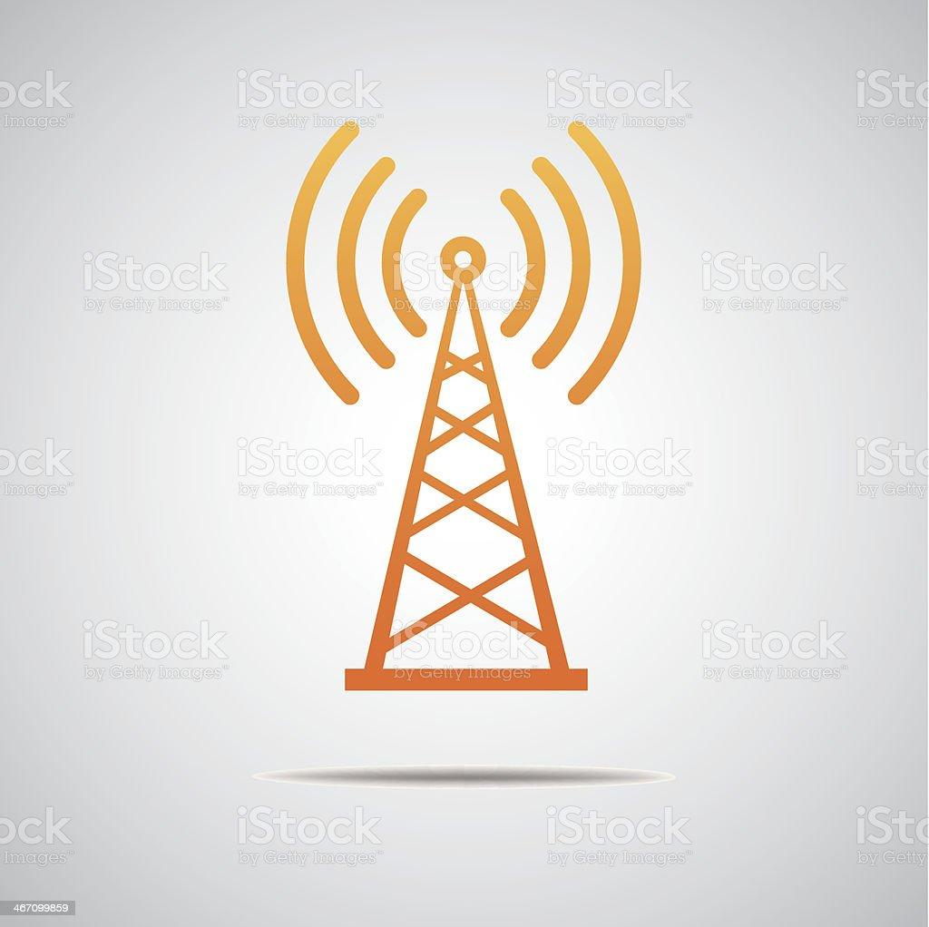 Transmitter icon royalty-free stock vector art