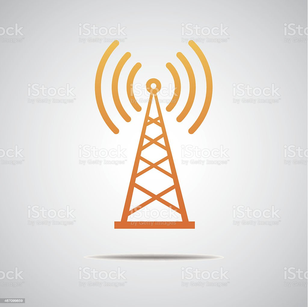Transmitter icon vector art illustration