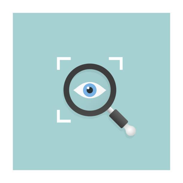 bildbanksillustrationer, clip art samt tecknat material och ikoner med öppenhet-ikonen - investigating eye