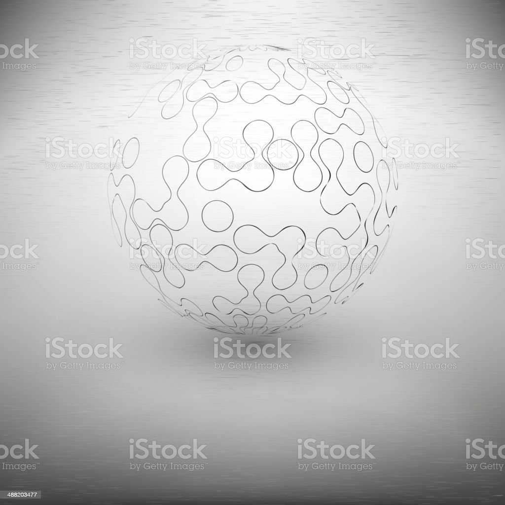 transparent abstract sphere on the gray background royalty-free transparent abstract sphere on the gray background stock vector art & more images of abstract