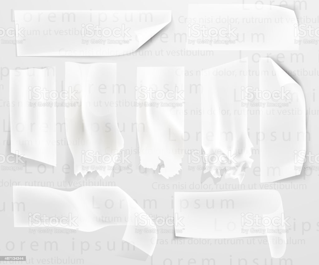 transparent adhesive tape, scotch tape vector art illustration