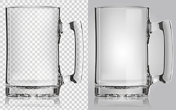 Transparent beer mug. Vector transparent beer mug. EPS10 no people stock illustrations