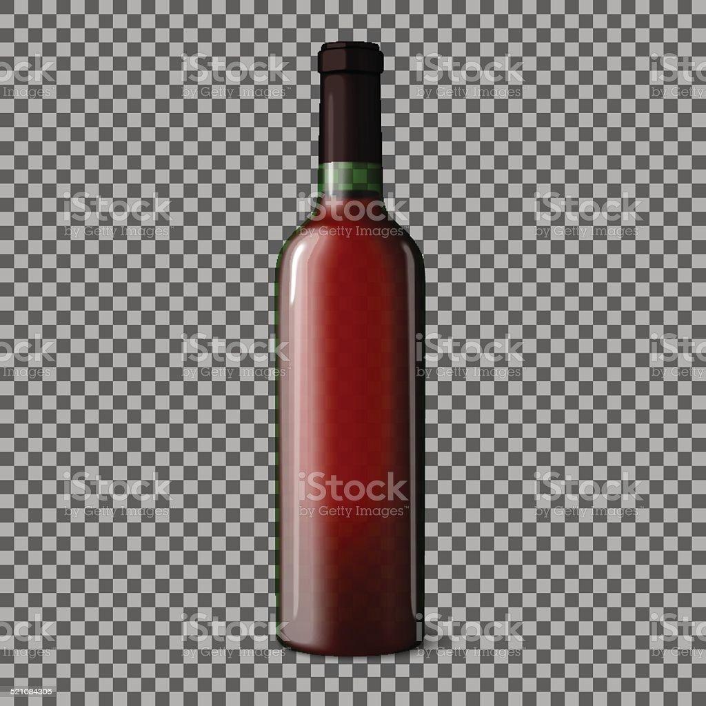 Fond Transparent R Aliste Bouteille De Vin Rouge Seul Sur Motif