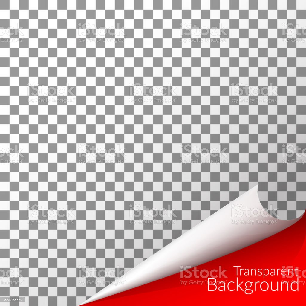 Transparent checkered background with a curved angle pattern  Vector vector art illustration