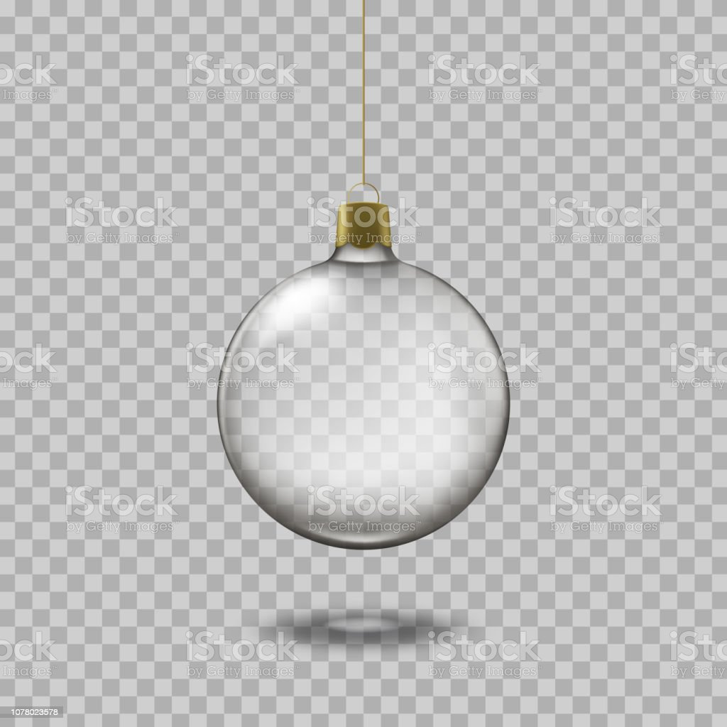 Personnaliser Une Boule De Noel Transparente boule de noël transparente de verre isolé sur fond