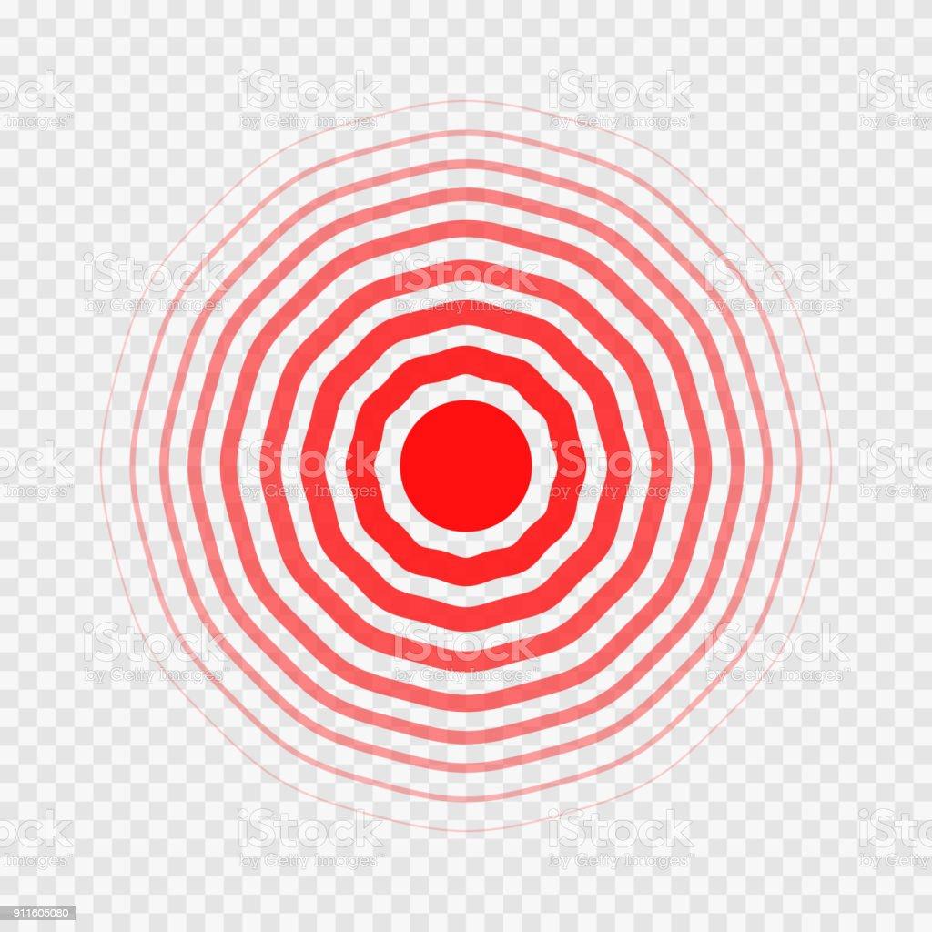 transparent concentric circle elements like pain vector art illustration