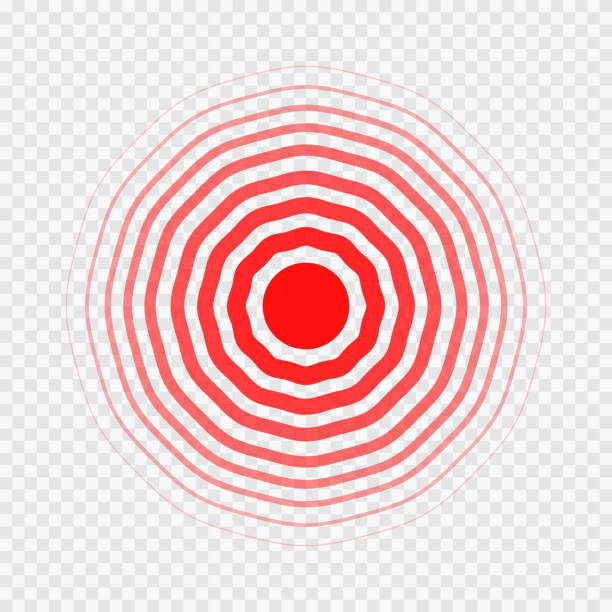 transparent concentric circle elements like pain vector art illustration