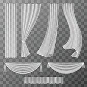 Transparent curtains set