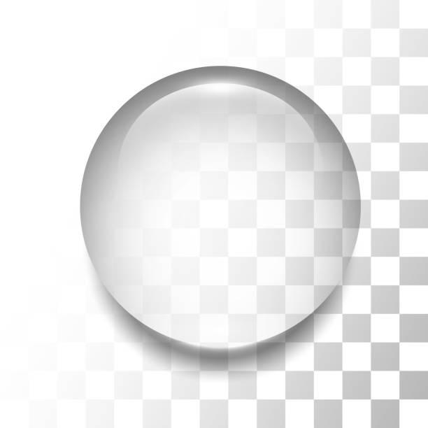 Transparent drop vector art illustration
