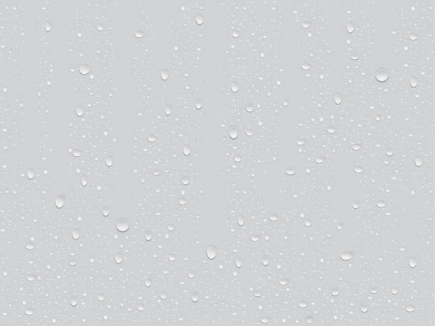 transparent drops transparent drop on a gray background raindrop stock illustrations