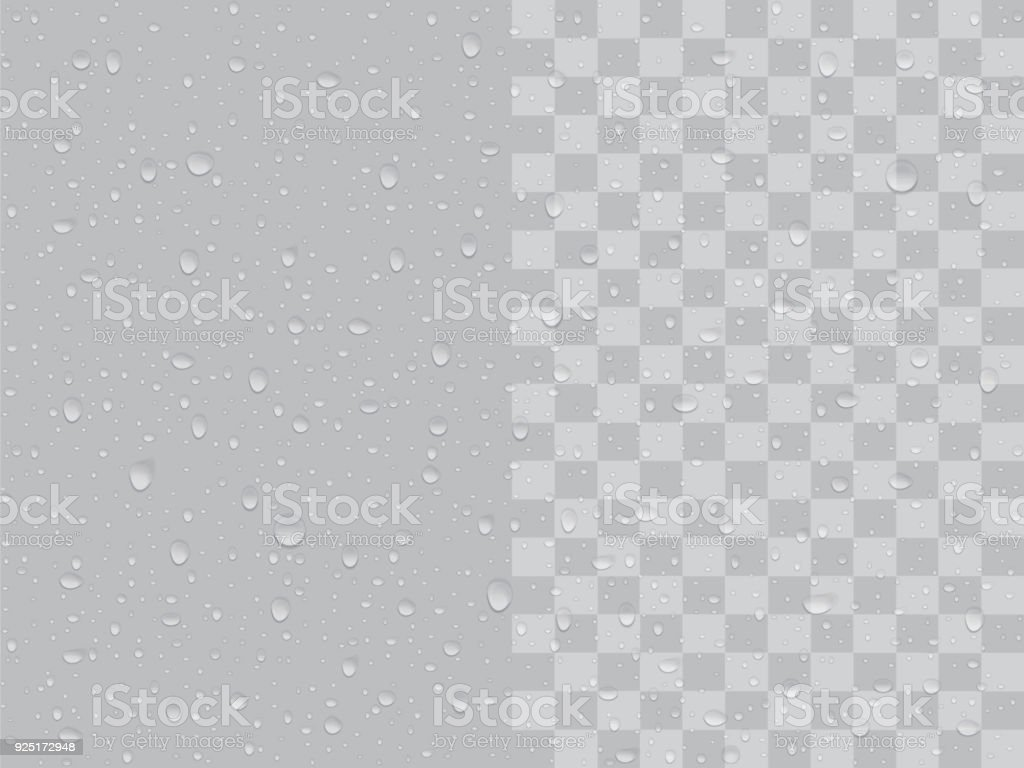transparent drops vector art illustration