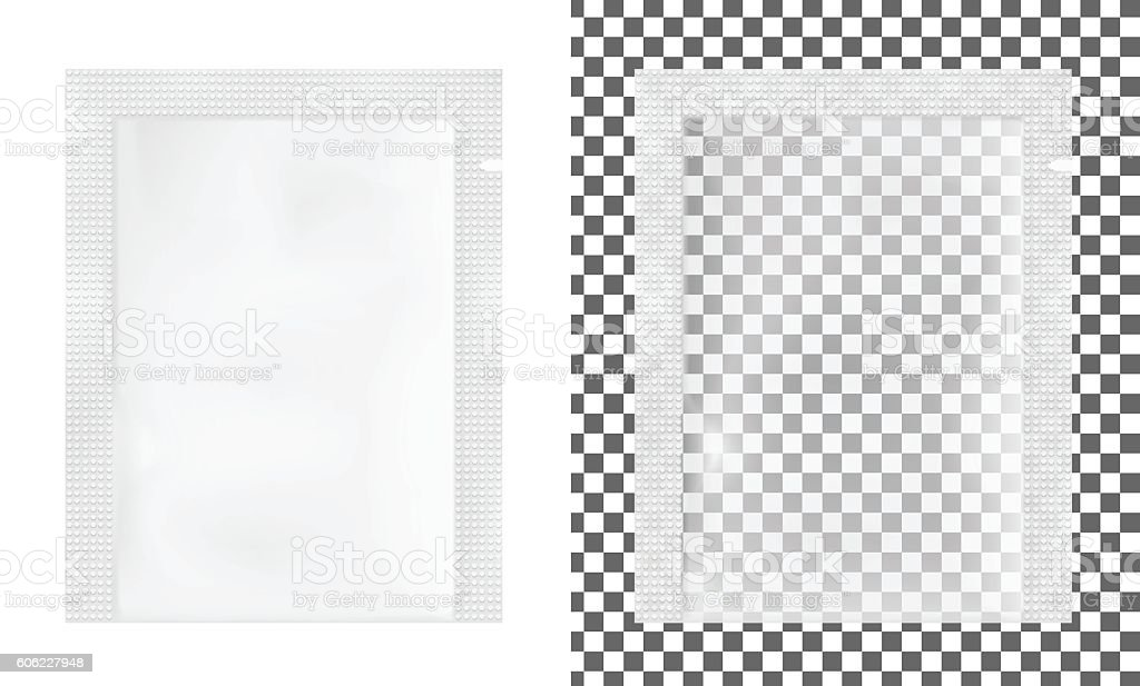 Transparent empty plastic packaging. vector art illustration