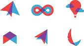 transparent flat vector symbols for branding