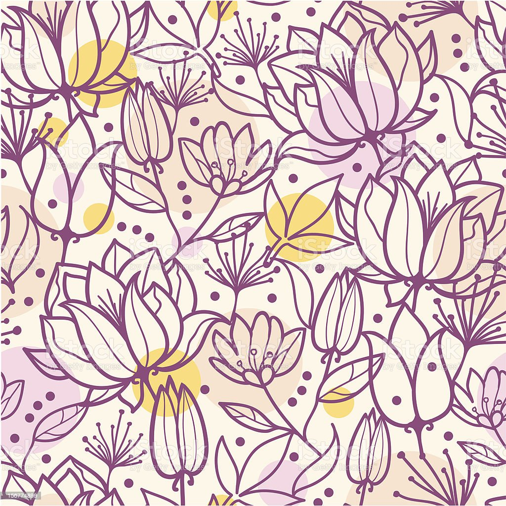 Transparent Flowers Seamless Pattern Background royalty-free stock vector art