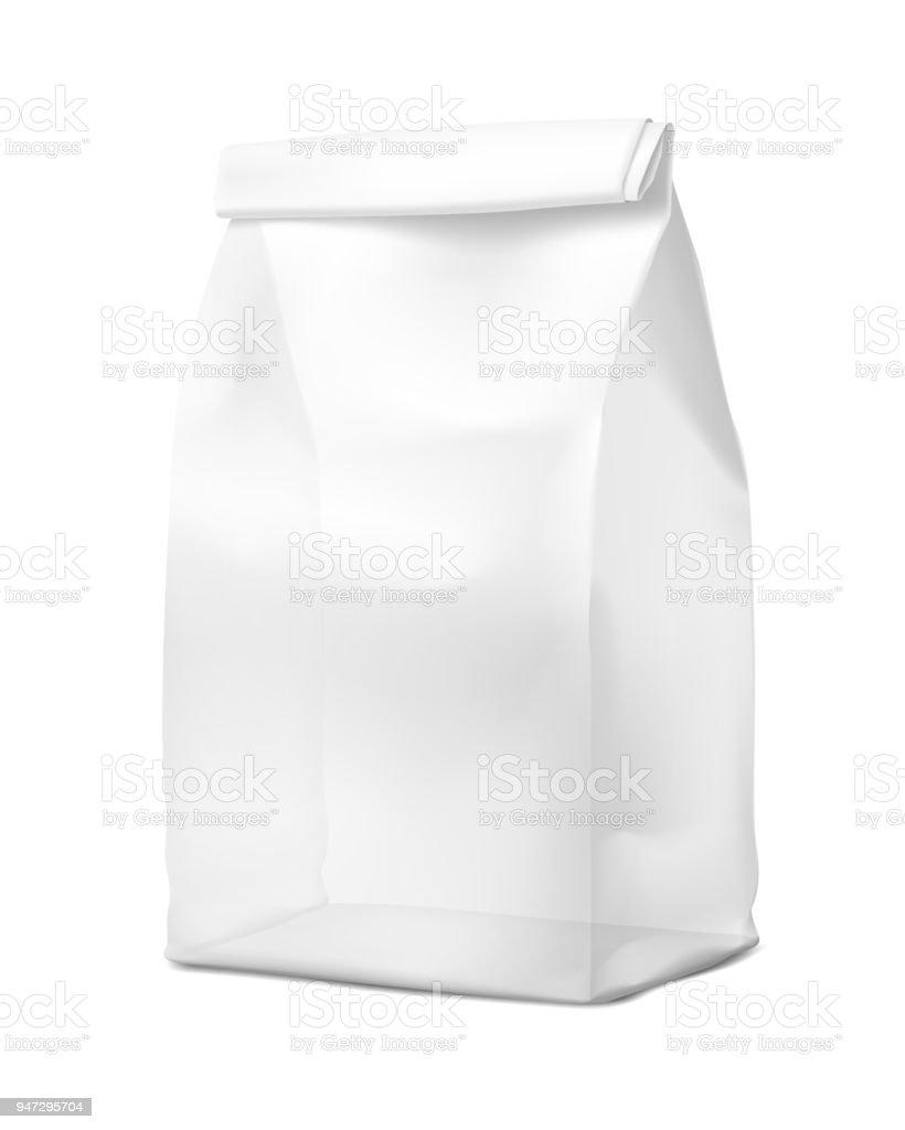 Transparent food snack bag. vector art illustration