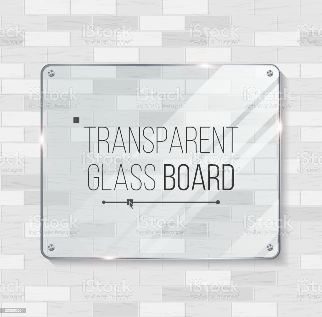 Transparentes Glas Board Vektor Dekorative Grafikdesignelement ...
