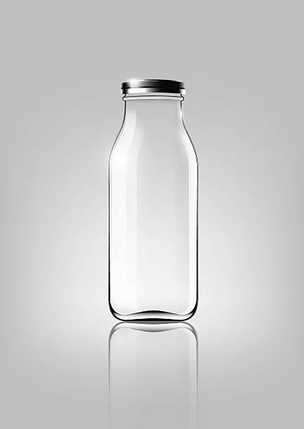 Transparent glass bottle for design package and advertisement ,Vector vector art illustration