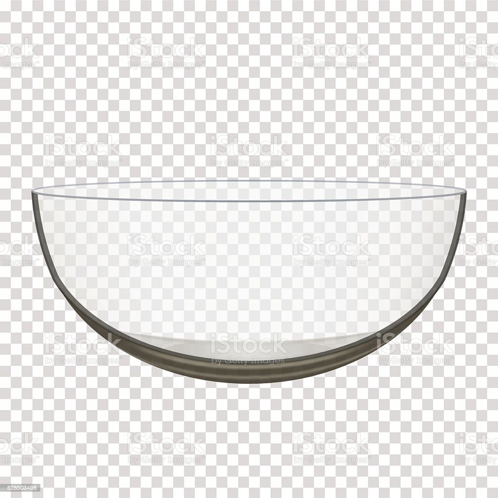 transparent glass bowl vector art illustration