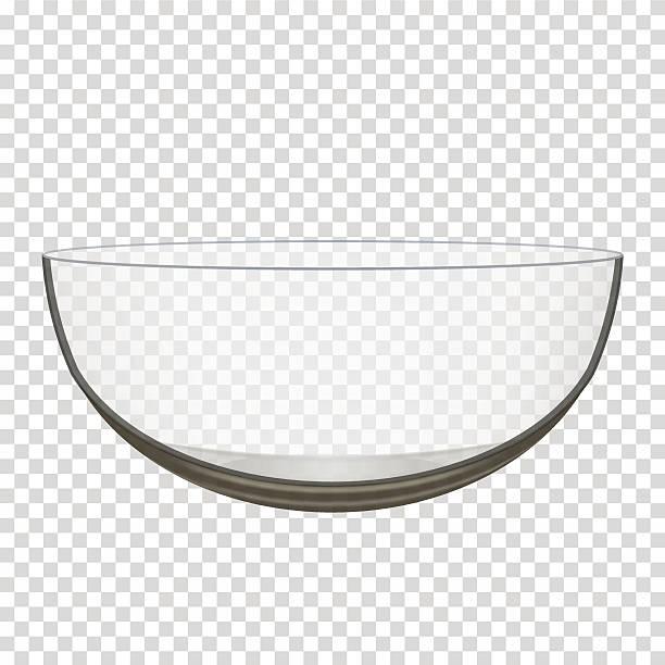 transparentes glas schüssel - schüssel stock-grafiken, -clipart, -cartoons und -symbole