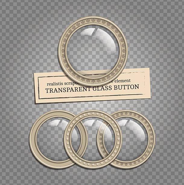 transparentes glas-buttons - steampunk stock-grafiken, -clipart, -cartoons und -symbole