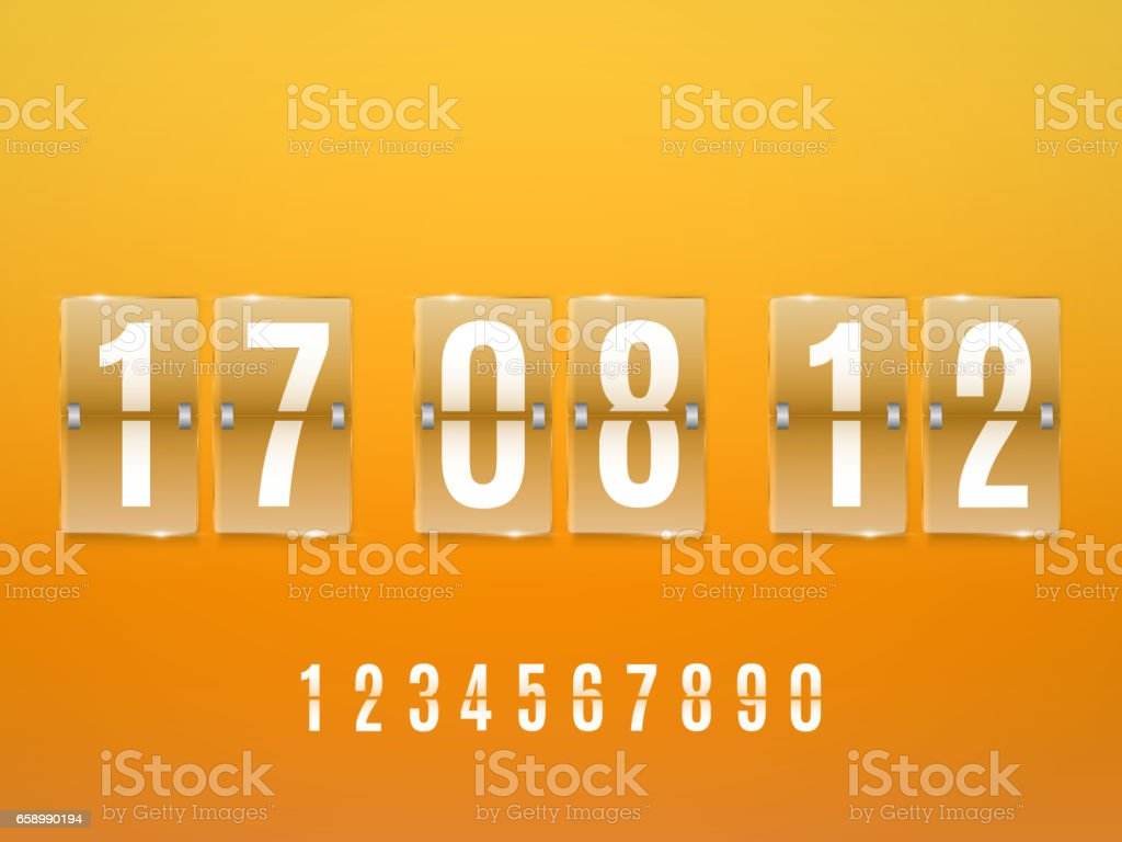 Transparent Glass Countdown timer isolated. Vector royalty-free transparent glass countdown timer isolated vector stock vector art & more images of announcement message