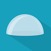transparent glass dome icon- vector illustration