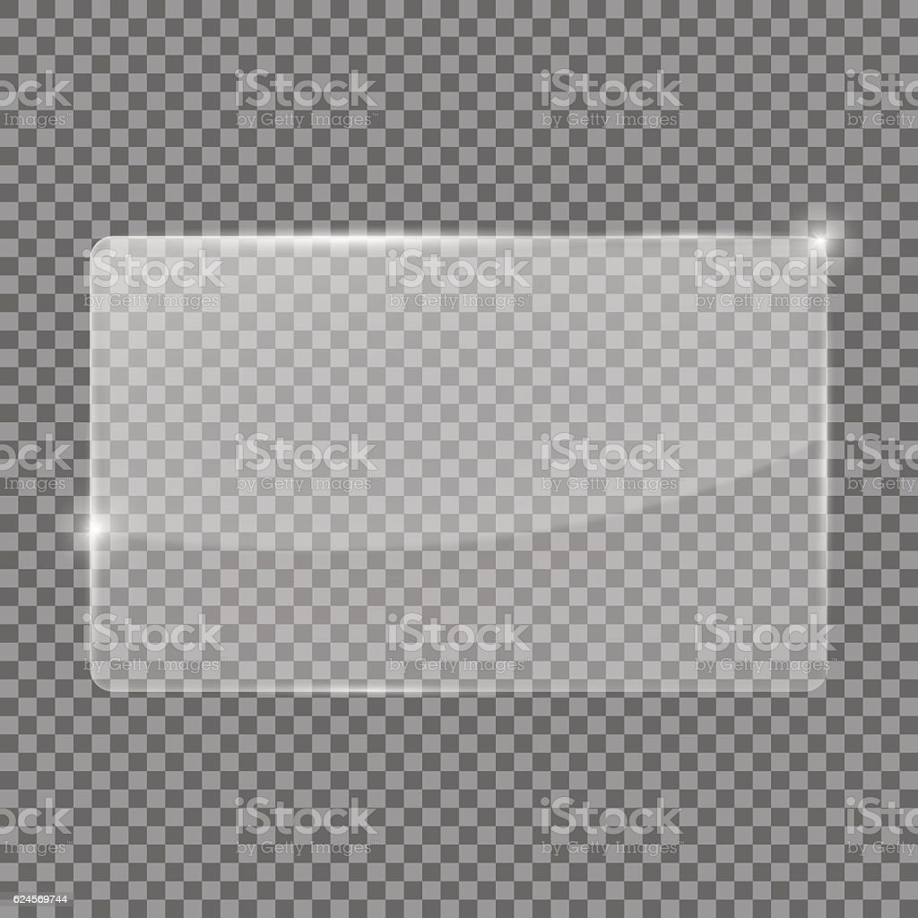 Transparent glass plate vector art illustration