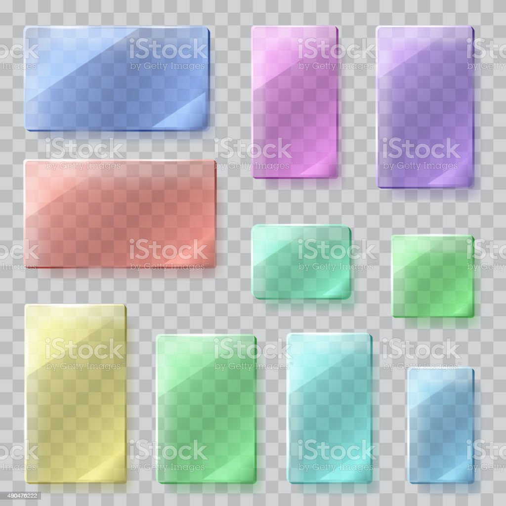 Transparent glass plates. Transparency only in vector file vector art illustration