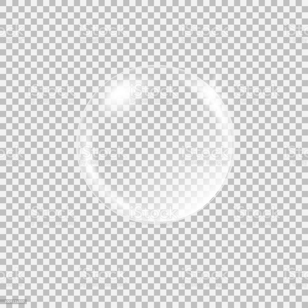 투명 한 유리 구를 glares 및 하이라이트 - 로열티 프리 0명 벡터 아트