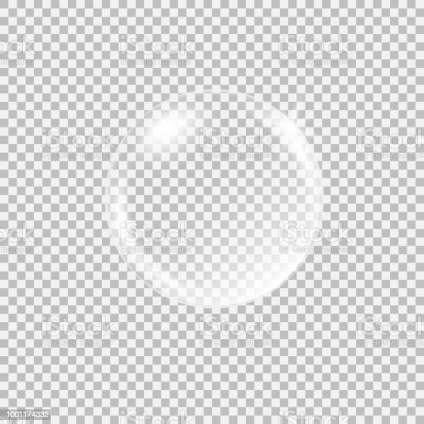 투명 한 유리 구를 Glares 및 하이라이트 0명에 대한 스톡 벡터 아트 및 기타 이미지