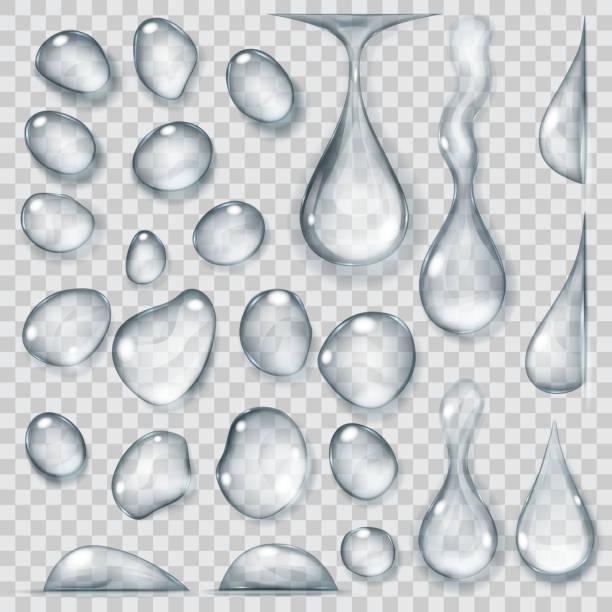 透明の灰色のドロップ。透明度ベクトル形式でのみ - 水滴点のイラスト素材/クリップアート素材/マンガ素材/アイコン素材