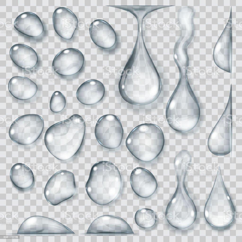 Transparente cinza quedas. Transparência apenas em formato vetorial - ilustração de arte em vetor