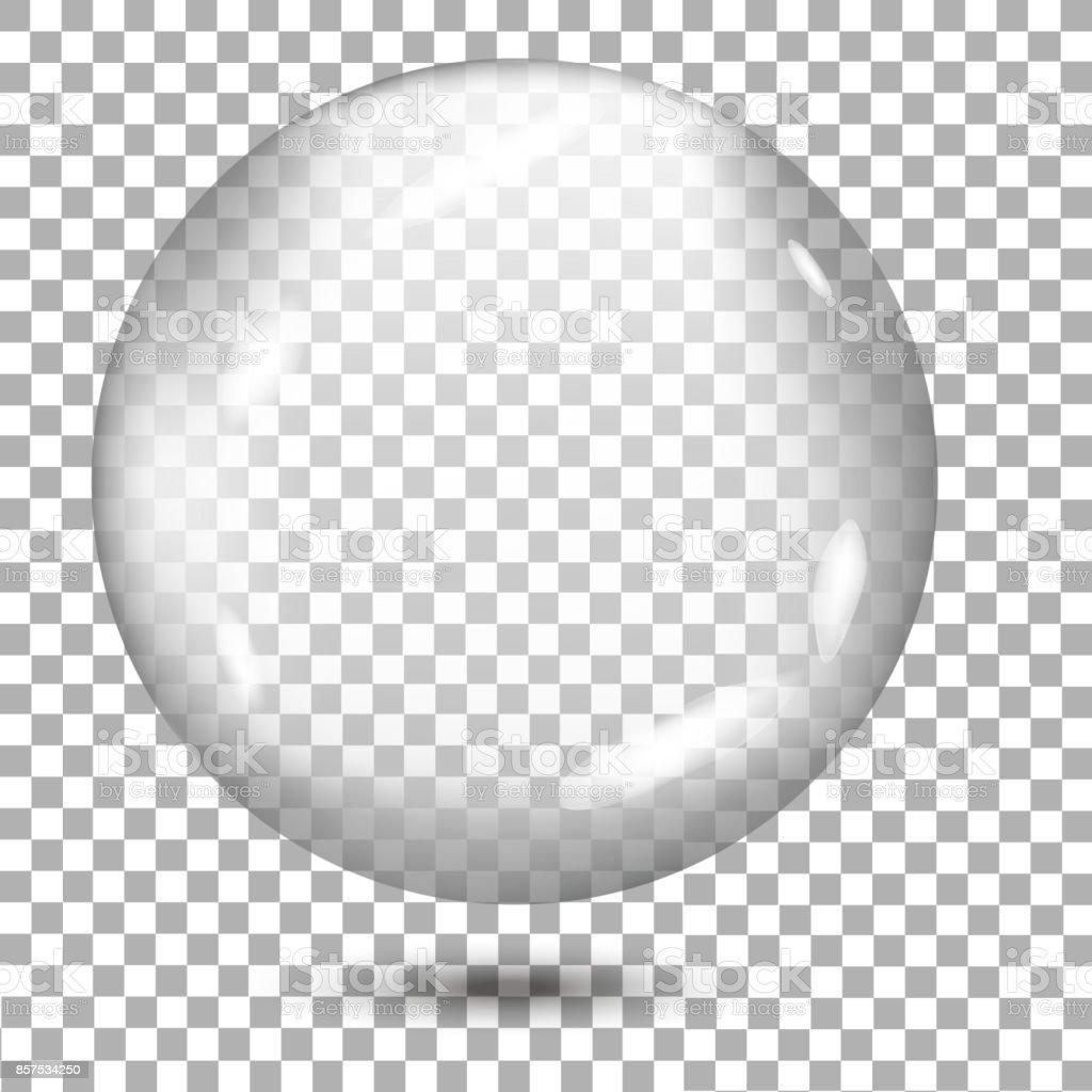 Esfera gris transparente con sombra sobre fondo transparente. Vector de - ilustración de arte vectorial