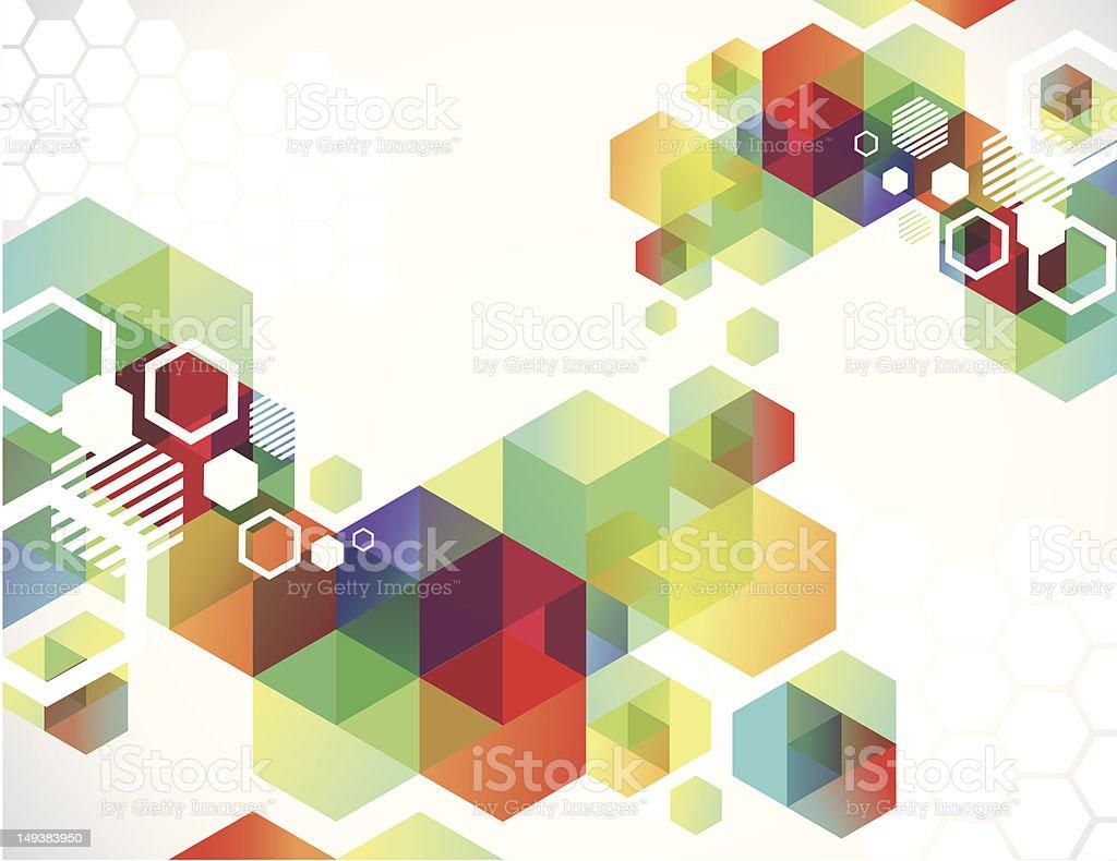 Transparent Hexagons royalty-free stock vector art