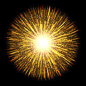 Transparent light flare fireworks effect. Isolated sparks for insert your design. Vector illustration EPS10