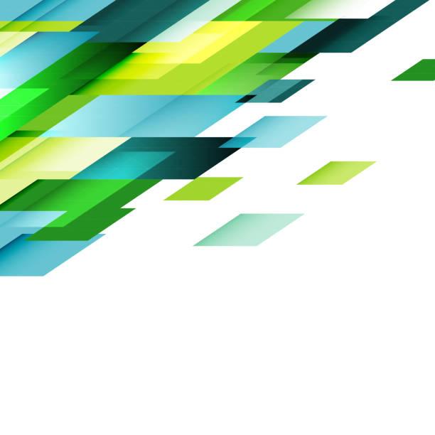 Transparent overlapping geometric on white. vector art illustration