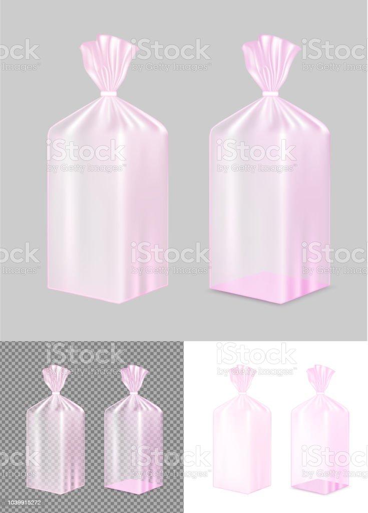 Bolsa para el pan color rosa