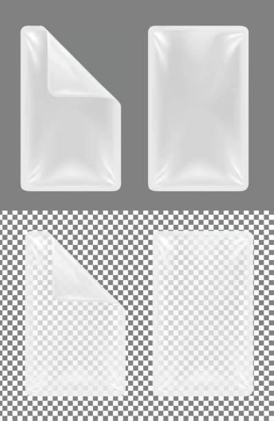 transparenter kunststoff behälter für lebensmittel. verpackung für fleisch, fisch und gemüse - vakuumverpackung stock-grafiken, -clipart, -cartoons und -symbole