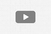 istock Transparent play button, simple icon for your design. Video symbol concept in vector flat 1264894875