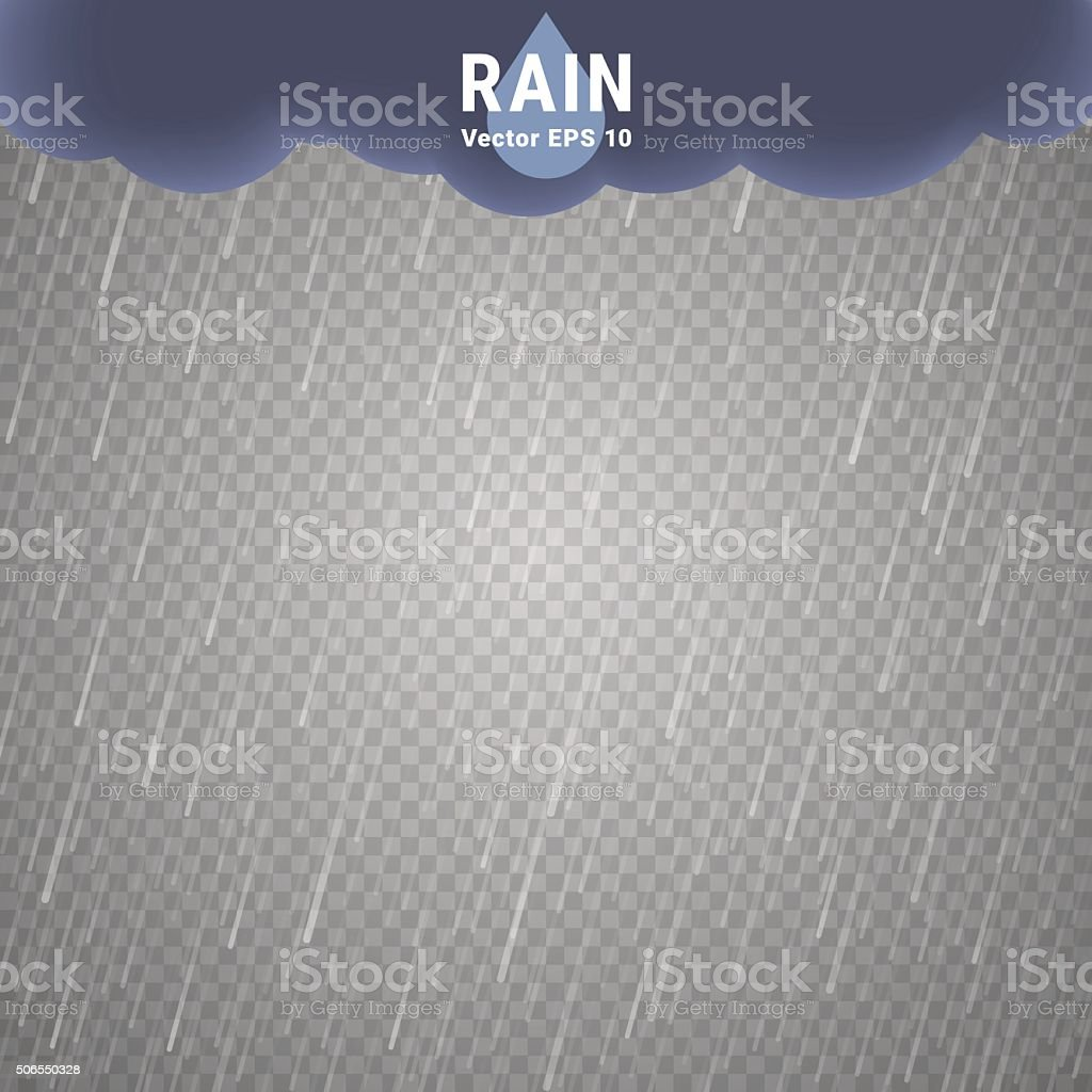 Transparent la pluie-Image - Illustration vectorielle