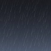 Transparent Rain Image. Vector Rainy background