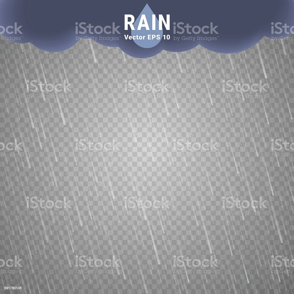Transparent Rain Image vector art illustration