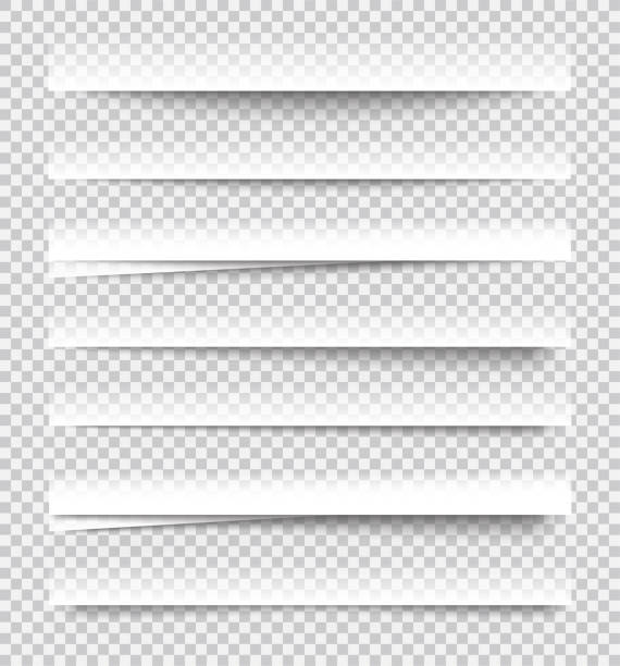 Transparent realistic paper shadow effects on checkered background. Element for advertising and promotional message... - stock vector. Transparent realistic paper shadow effects on checkered background. Element for advertising and promotional message... - stock vector. focus on shadow stock illustrations